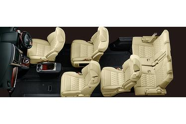 Toyota Alphard and Vellfire 30 Series Vellfire seating configuration (super-long-slide passenger seat extended)