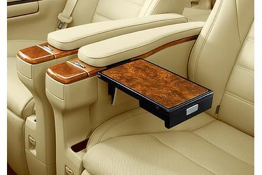 Executive Lounge専用装備 大型アームレスト+格納式テーブル (オリーブ・アッシュバール杢柄調)