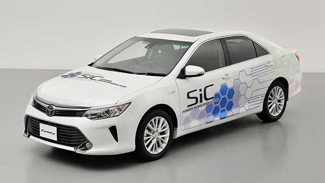 Camry prototype featuring SiC power semiconductors