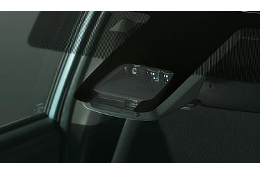 Toyota Safety Sense C sensors on board the Corolla Fielder