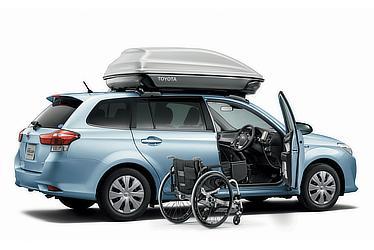 Corolla Fielder Hybrid G(Light Blue Metallic)2WD Welcab with Friendmatic seat