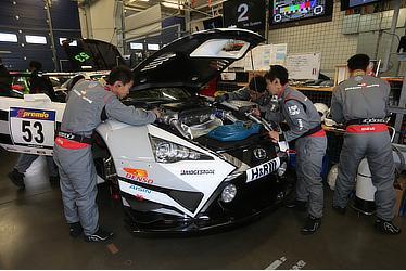 GAZOO Racing team members at Nürburgring VLN1