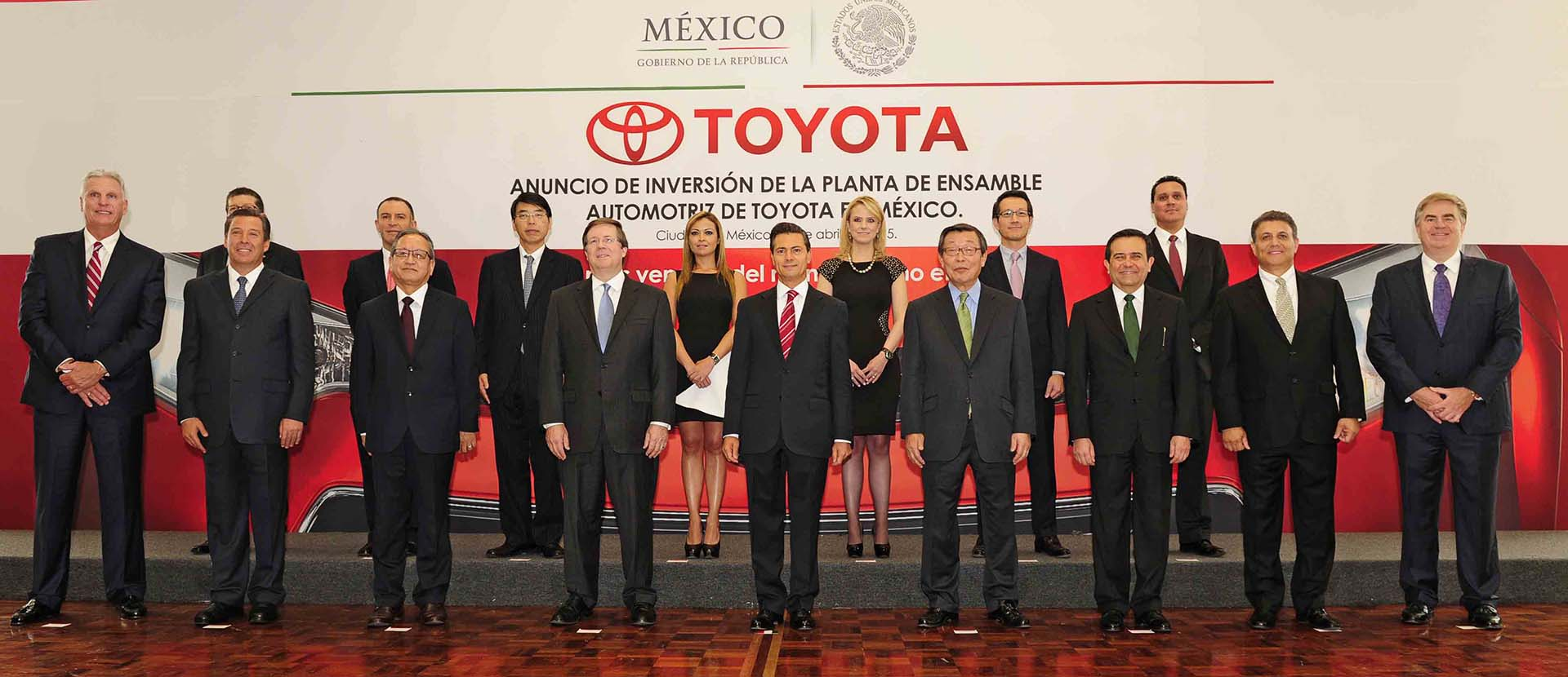 Toyota and Mexican officials attend ceremony
