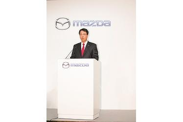 Press conference announcing partnership between Mazda and Toyota