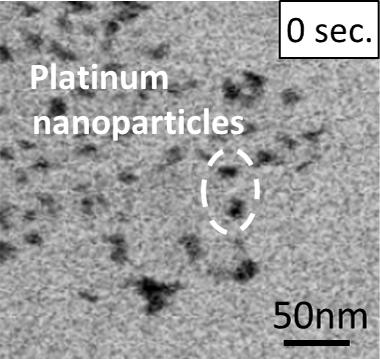 The coarsening of platinum nanoparticles (0 sec.)