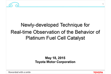 Newly-developed Technique for Real-time Observation of the Behavior of Platinum Fuel Cell Catalyst