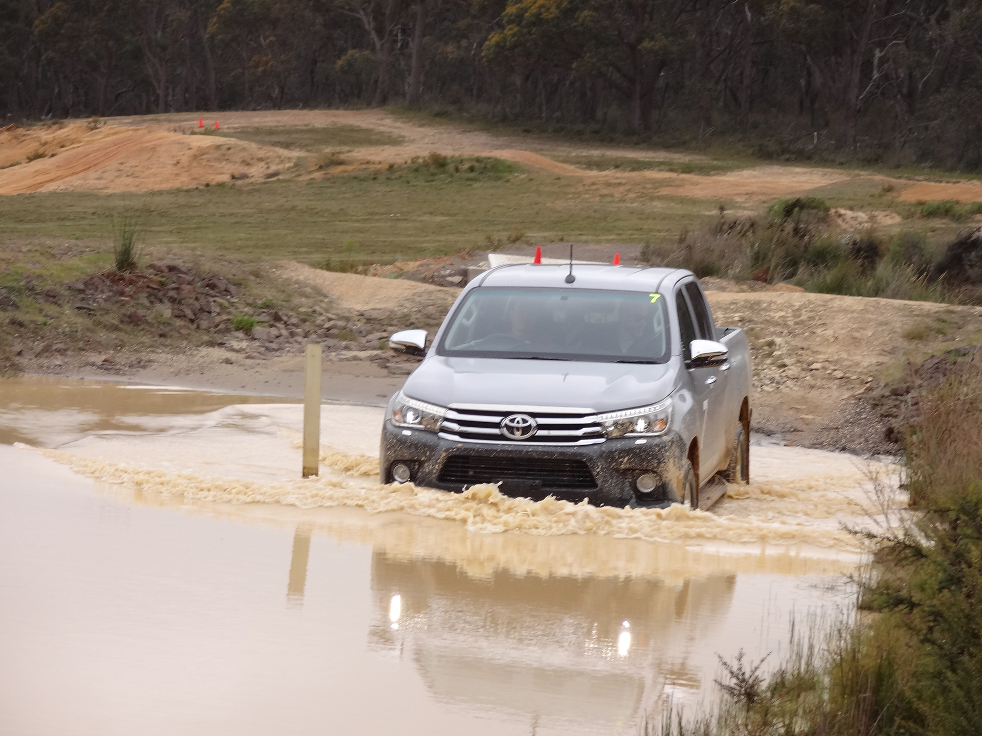 Testing the new Hilux
