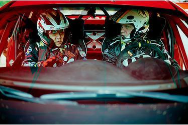 Toyota President Akio Toyoda and Tommi Mäkinen