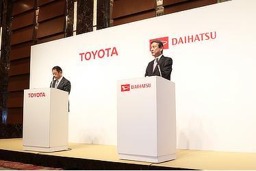 Toyota President Akio Toyoda Daihatsu President Masanori Mitsui