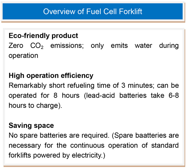 Overview of Fuel Cell Forklift