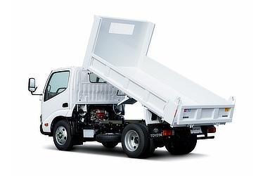 ダイナ 9mm厚ダンプ 標準キャブ・標準デッキ・フルジャストロー・3t積・ディーゼル車・2WD(ホワイト)<オプション装着車>