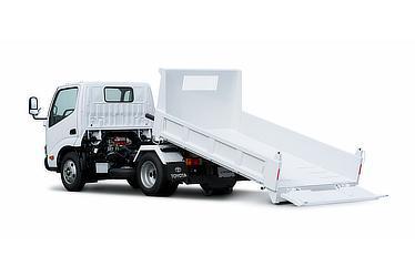 ダイナ スライド式ダンプ 標準キャブ・標準デッキ・フルジャストロー・3t積・ディーゼル車・2WD(ホワイト)<オプション装着車>