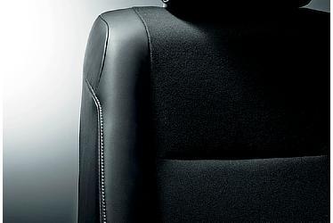 専用シート表皮[合成皮革+ファブリック&ホワイトステッチ/消臭機能付]