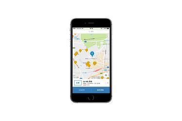 駐車スポット検索・予約画面