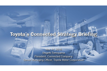 Toyota's Connected Strategy Briefing
