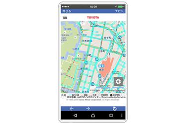 通れた道マップ表示イメージ