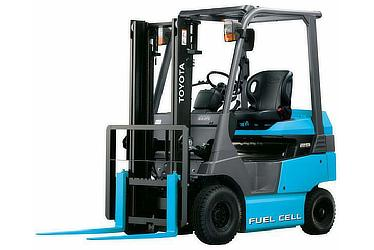 Fuel cell forklift (rated load: 2.5 tons) manufactured by Toyota Industries Corporation