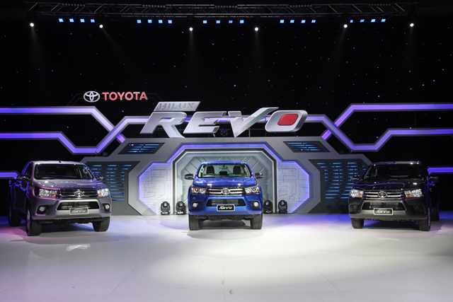 Launching event of Toyota Hilux Revo in Thaialnd