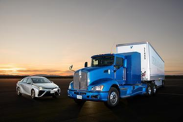実験車両のFC大型商用トラック