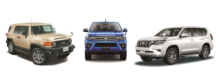 "Special specification ""Final Edition"" (options shown), Hilux Z grade, Land Cruiser Prado TZ-G grade (options shown)"