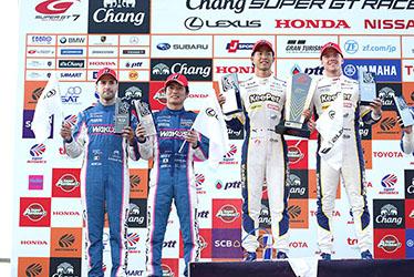 【ドライバー】アンドレア・カルダレッリ/大嶋 和也/平川 亮/ニック・キャシディ SUPER GT 第7戦 タイ Chang SUPER GT RACE