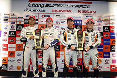 【ドライバー】平川 亮/ニック・キャシディ/中山 雄一/坪井 翔 SUPER GT 第7戦 タイ Chang SUPER GT RACE