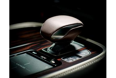 Shift knob with real leather