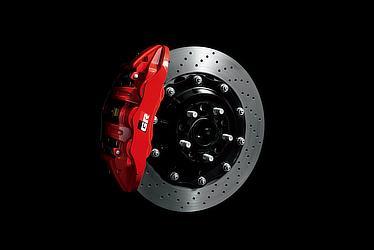 GR専用大型ベンチレーテッドディスクブレーキ(フローティングドリルドディスク)<フロント>