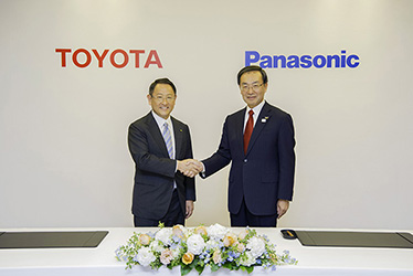 Signing of partnership agreement between Panasonic and Toyota