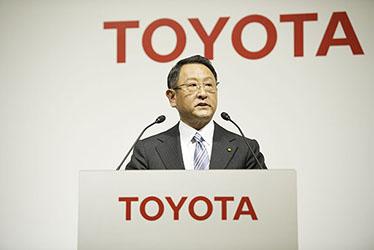 トヨタ 代表取締役社長 豊田 章男