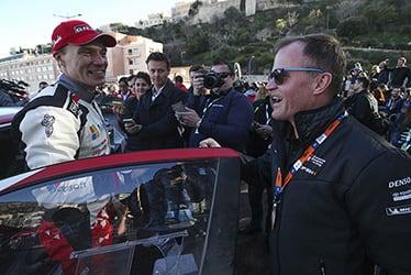 Jari-Matti Latvala, driver / Tommi Mäkinen, Team Principal; 2018 WRC Round 1 RALLYE MONTE-CARLO