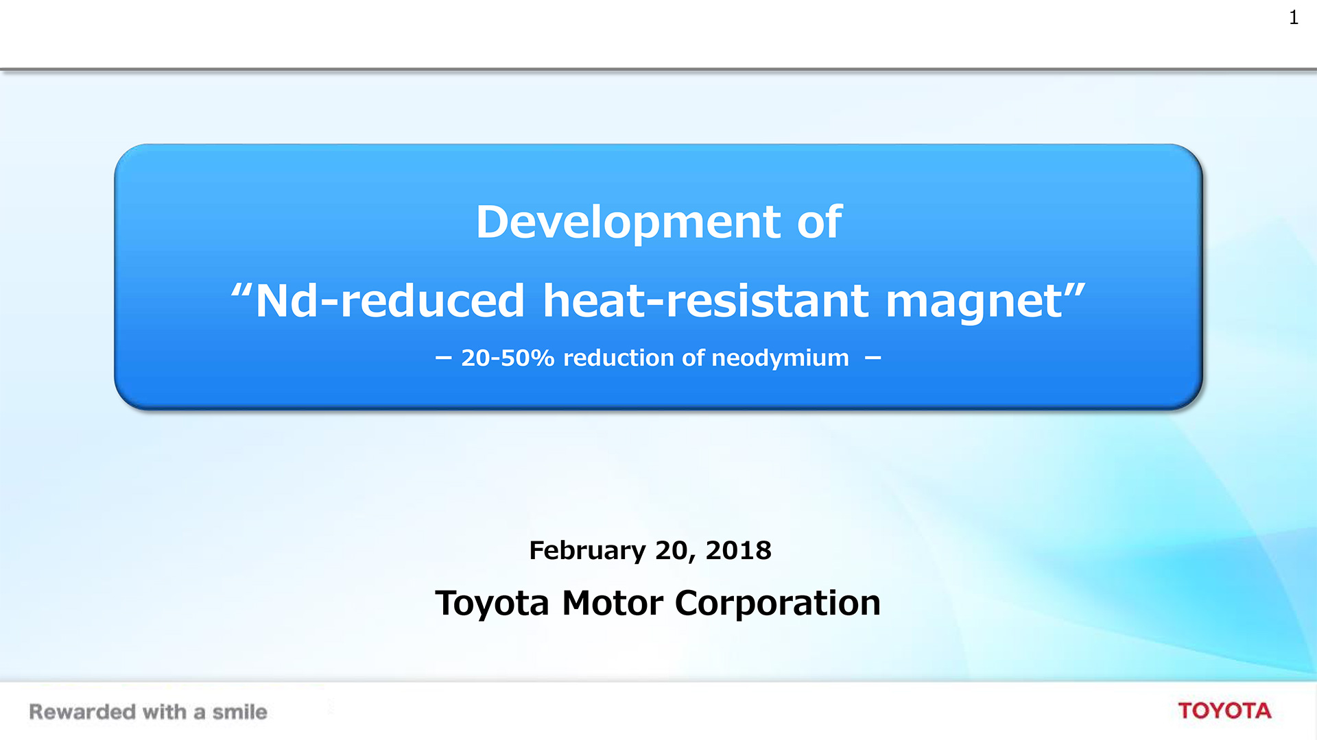 "Development of ""Nd-reduced heat-resistant magnet"""