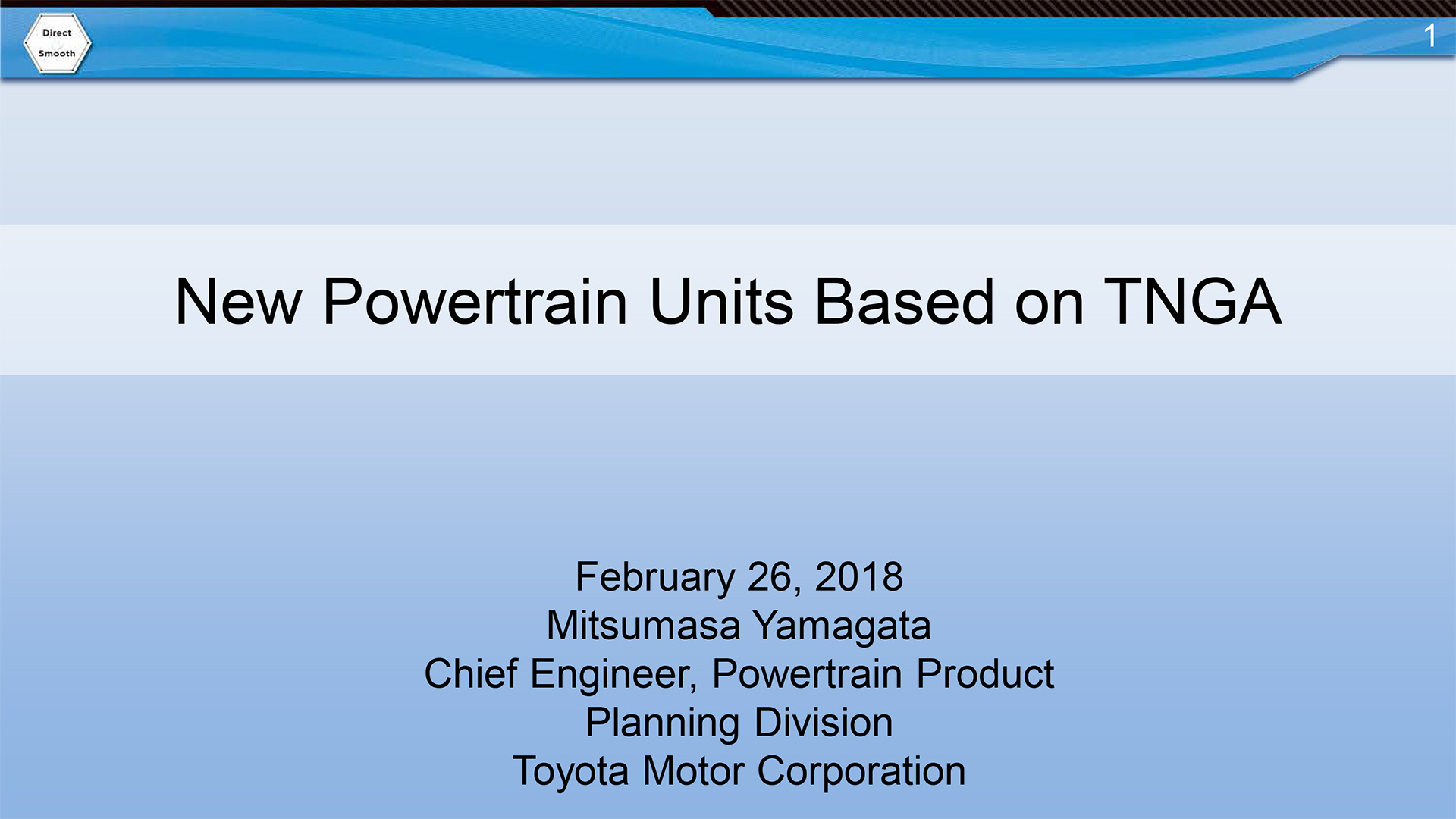 New Powertrain Units Based on TNGA