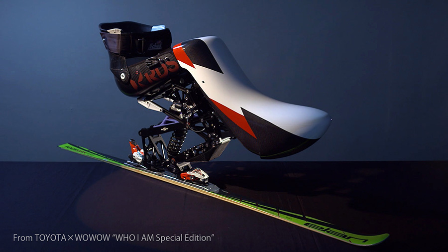The sit-ski developed together with Toyota and Nissin Medical Industries