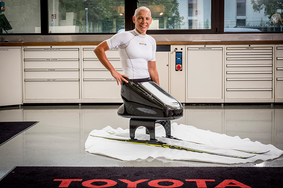 Andrea Eskau will compete with ski sled developed by Toyota Motorsport GmbH.