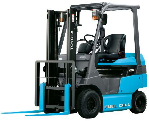 Fuel cell forklift manufactured by Toyota Industries Corporation