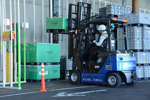 Fuel cell forklift
