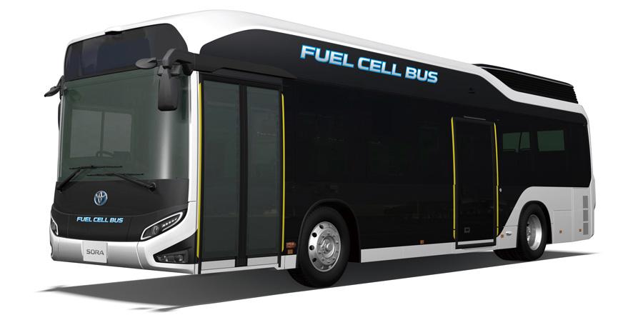 Toyota Launches Production Model Quot Sora Quot Fc Bus Automotive World