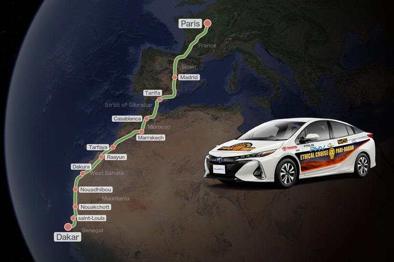 Crossing the Sahara Desert in a Prius PHV