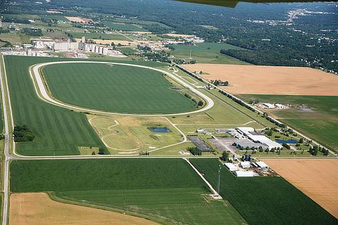 Site of the future automated vehicle test facility (inside the MITRP oval track)