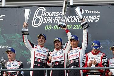 Sébastien Buemi / Fernando Alonso / Kazuki Nakajima, driver; 2018-19 WEC Round 1 Total 6 Hours of Spa-Francorchamps