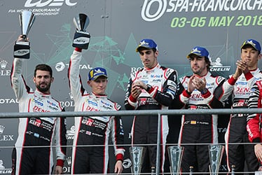 José María López / Mike Conway / Sébastien Buemi / Fernando Alonso / Kazuki Nakajima, driver; 2018-19 WEC Round 1 Total 6 Hours of Spa-Francorchamps