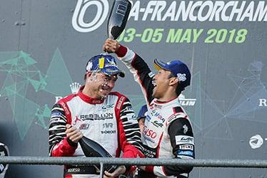 Kazuki Nakajima, driver; 2018-19 WEC Round 1 Total 6 Hours of Spa-Francorchamps