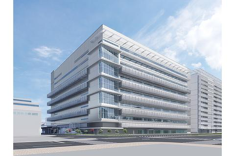 Artist rendering of the FC stack production building within the Honsha Plant premises