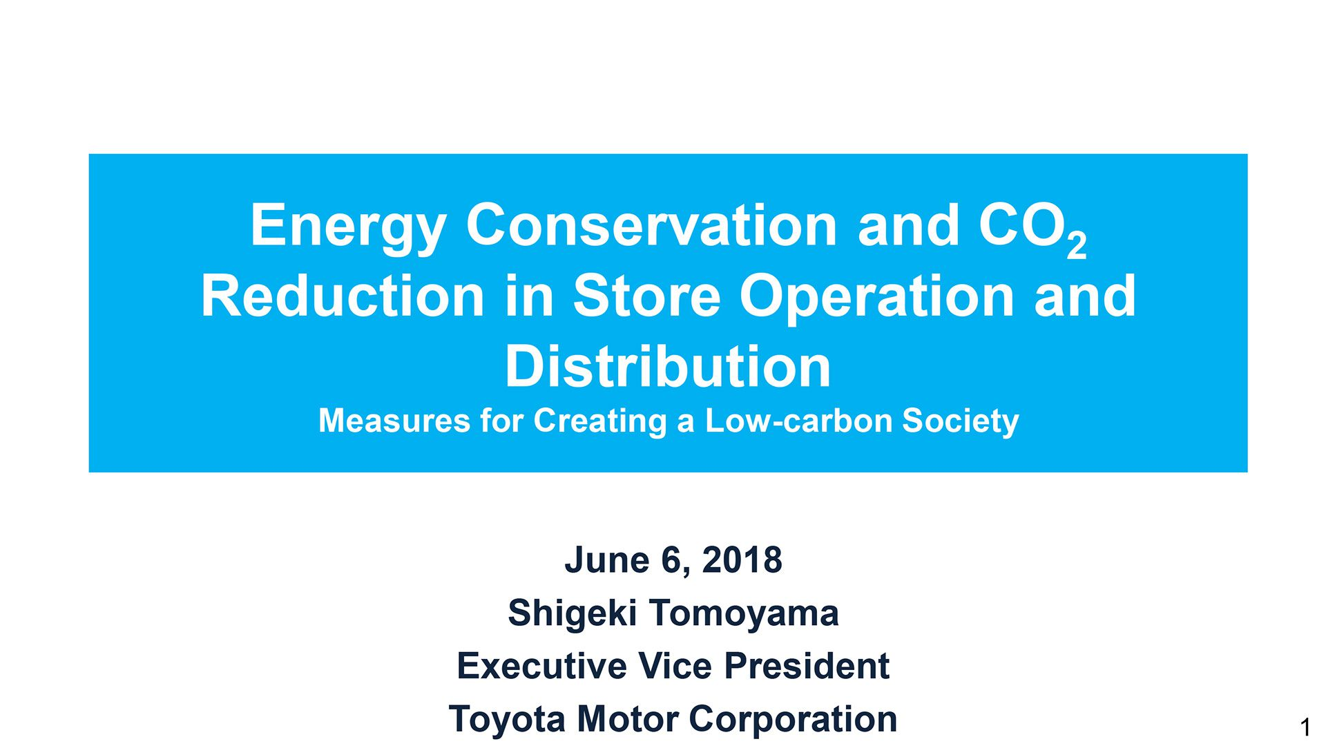 Energy Conservation and CO2 Reduction in Store Operation and Distribution