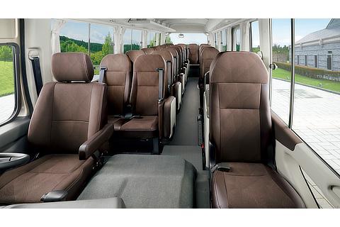 EX(ロングボディ・冷蔵庫付28人乗り・6AT)(ベージュメタリック)<オプション装着車>室内