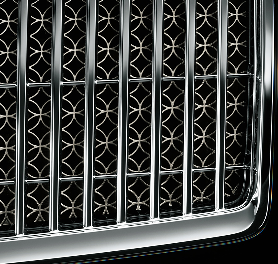 Front grille (crown pattern)
