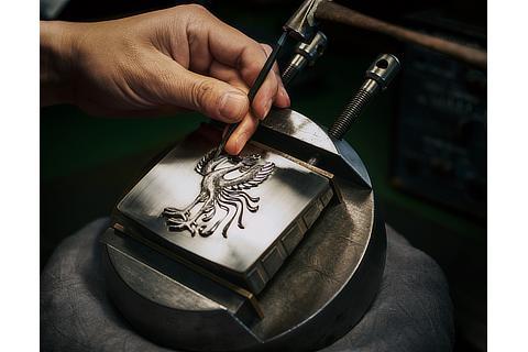 鳳凰エンブレム(手彫り)