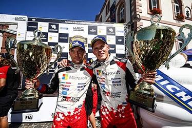 Martin Järveoja, driver / Ott Tänak, driver; 2018 WRC Round 9 RALLYE DEUTSCHLAND