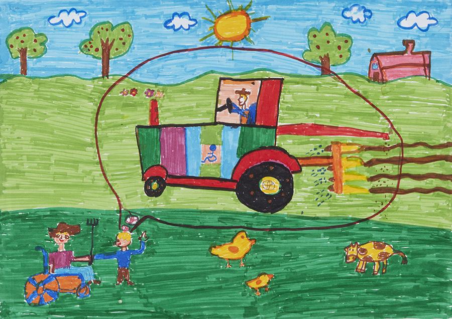 障がいを持った農家の人のためのクルマ